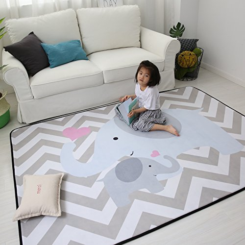 Plush Foam Play Crawling Rugs for Baby , and Children Play Blanket, Soft Activity Area Rugs, Boys and Girls Educational Game Mat, 59