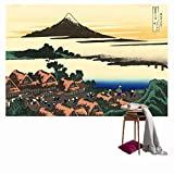SUNSHINE EVERYDAY Cool Japanese Art Printing Tapestry Wall Hanging, Beach towel Throw, Dorm Decoration, Tablecloth Japanese Art Curtain (60''×40'', Multi-9)