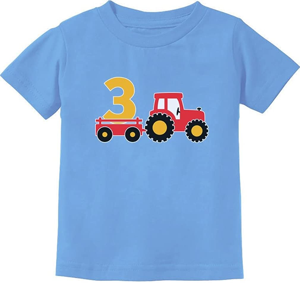 3rd Birthday Gift Construction Party 3 Year Old Boy Toddler/Infant Kids T-Shirt