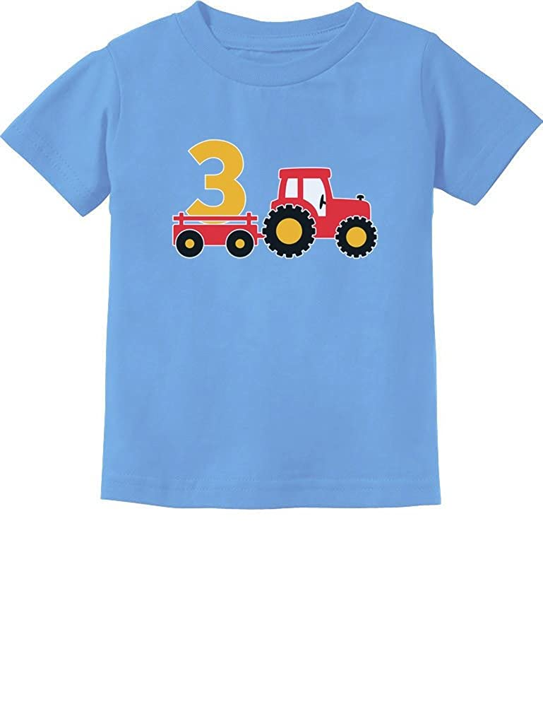 3rd Birthday Gift Construction Party 3 Year Old Boy Toddler/Infant Kids T-Shirt GtPt0htgm5