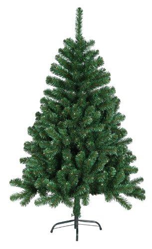 Künstlicher Weihnachtsbaum Tannenbaum Christbaum mit Metallfuß, 120 cm hoch, grün