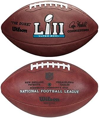 Wilson NFL Super Bowl LII (52) Oficial (diseño de balón de fútbol ...