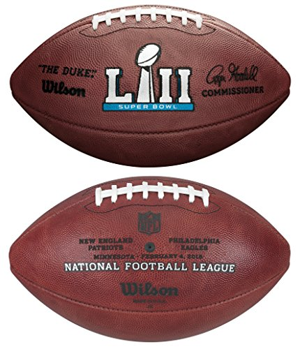 (Wilson NFL Super Bowl LII (52) Official Football New England Patriots vs Philadelphia Eagles)