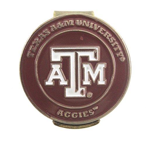 Texas A&M Aggies Hat Clip with Golf Ball (College Golf Cap Hat Clip)