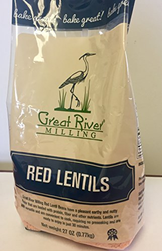 Great River Milling Red Lentils, 27 Ounce (Pack of 4) by Great River Organic Milling