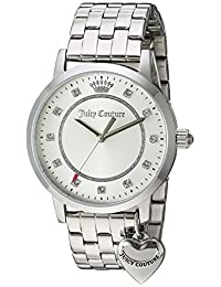 Juicy Couture Women's 'Socialite' Quartz Stainless Steel Automatic Watch, Color: Silver-Toned (Model: 1901474)