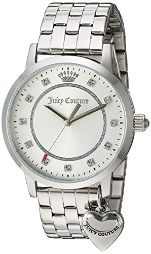 Juicy Couture Women's 'Socialite' Quartz Stainless Steel Quartz Watch, Color:Silver-Toned (Model: 1901474)