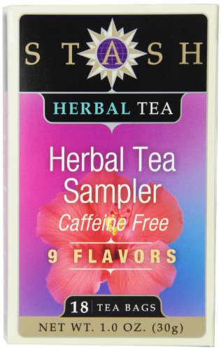 Stash Tea Assorted Herbal Tea - 18 ct (Stash Organic Tea Sampler)