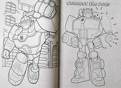 transformers rescue bots animated series 144pg coloring and activity book with stickers - Rescue Bots Coloring Book