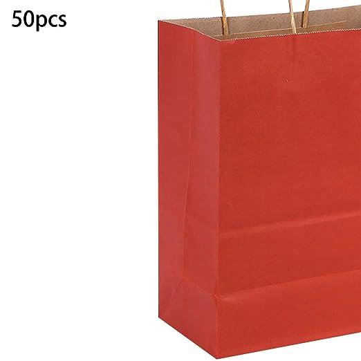 MYA - 50 Bolsas de Papel para Regalo de Papel Kraft para ...