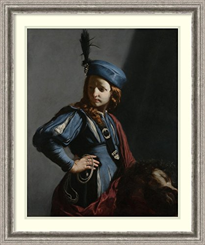 [Framed Art Print 'David with the Head of Goliath' by Guido Cagnacci] (David Goliath Costume)
