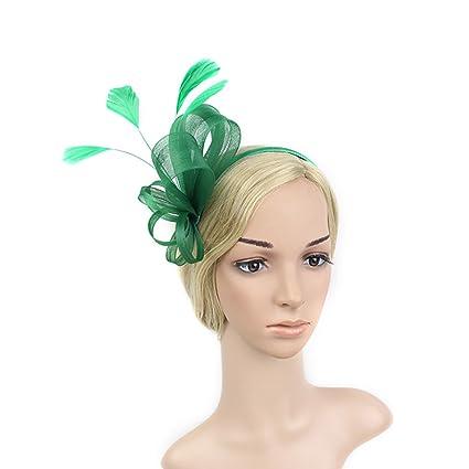 Uiophjkl Festa Cocktail Banchetto Retro Fascinators delle Donne Cappello  Headwear Flower Mesh Feathers Headwear Headwear per d9a19fcb4561