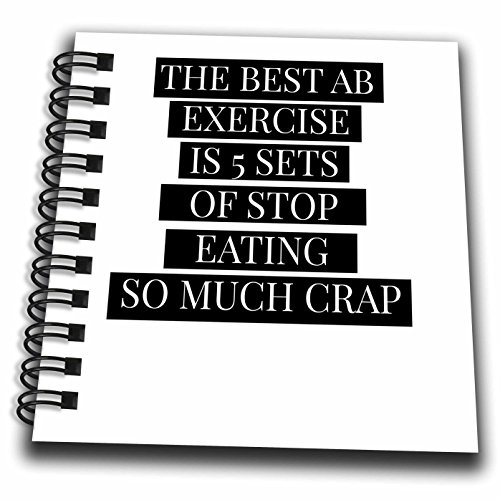 BrooklynMeme Fitness - The best ab exercise white - Mini Notepad 4 x 4 inch (db_252214_3)