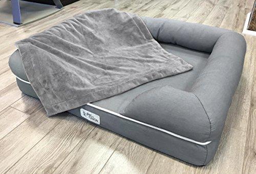 [NEW] PetFusion Premium Pet Blanket. Reversible Gray Micro Plush. [100% soft polyester] 51jYDXSjGoL