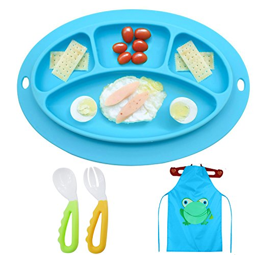 3pcs Silicone Table Placemat Set For Baby Toddler Placemat For Kids,  Baby Portable Highchair Suction Mini Mat For Food Table Eating, Eating Mat Extra Sticky, Stay In Place For (Catch Bowl Toddler Bowl)