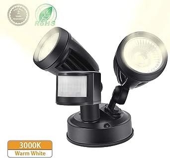 Foco LED con Sensor de Movimiento,Comaie 2 bombillas LED de Sensor ...