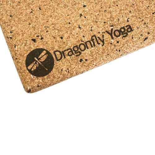 DragonFly Yoga Cork and Recycled EVA Foam Yoga Block, 4-Inch