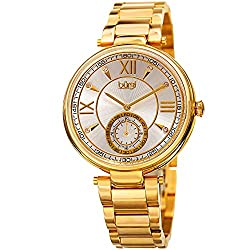 Women's Swarovski Crystals Engraved Watch