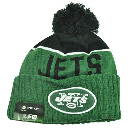 New Era Men's NFL 2015 New York Jets Sport Knit Hat Green/Black Size One Size