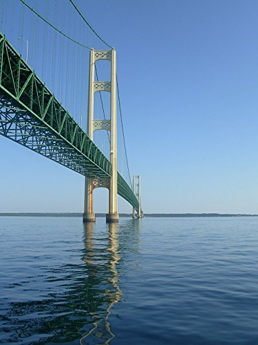 Home Comforts LAMINATED POSTER Michigan Sky Bridge Mackinaw Mackinac Huron Poster
