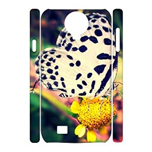 3D Cases for Samsung Galaxy S4, Butterfly 50 Cases for Samsung Galaxy S4, Evekiss White
