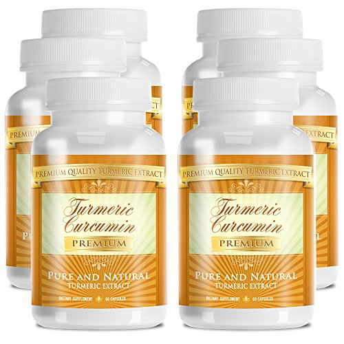 Turmeric Premium - 100% Pure Turmeric Extract with 95% Curcumin - With Bioperine (Piperine) - 1000mg - 100% Money Back Guarantee - 360 Capsules - 6 Months Supply by TurmericPremium