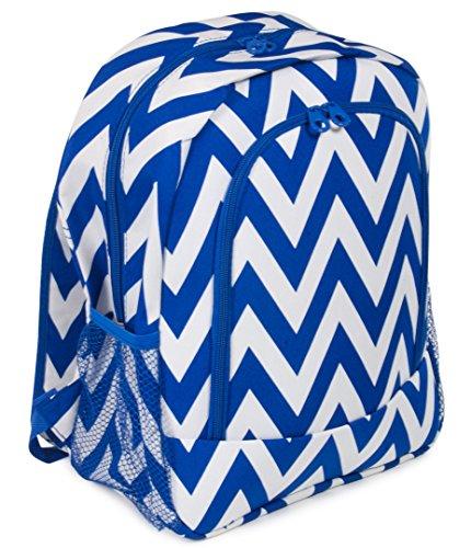 Ever Moda Royal Blue Chevron Backpack School Bags