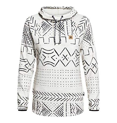 DC Apperal Women's DWR Fleece Sweatshirt, Silver Birch Mud Cloth, Size Small DC Shoes