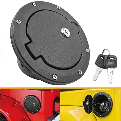 Gas Cap Fuel Fuel Filler Door for Jeep TJ TJU - Fits for Wrangler 1997-2006 TJ TJU Gas Cover - Black Fuel Filler Door Cover (Without Logo)