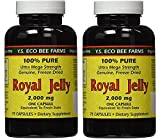 YS Eco Bee Farms Royal Jelly 2,000 mg – 75 capsules (Pack of 2) For Sale