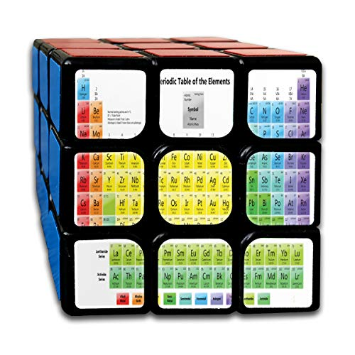 Speed Cube Printable Periodic Tables For Chemistry Unique 3 X 3 Magic Cube For Kids Intelligence Toy (Sticker) ()