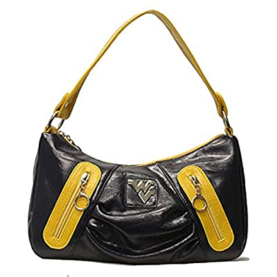 Rosemarie Collections Women's West Virginia University WVU Mountaineers Handbag