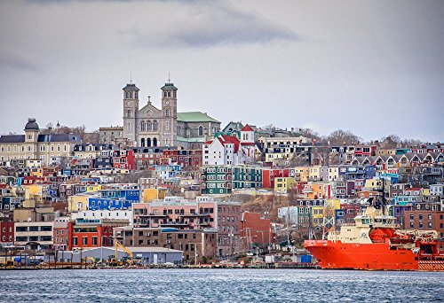 (Home Comforts Peel-n-Stick Poster of Harbour Newfoundland Downtown St John's Poster 24x16 Adhesive Sticker Poster)
