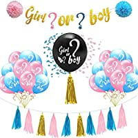 DIY Gender Reveal Party Supplies Pink and Blue Confetti Balloons Decorations Baby Boy Girl Decoration Supply Kit Baby…