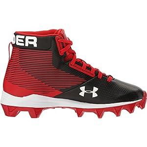 Under Armour Kids Boy's UA Hammer Mid RM Jr. Football (Little Kid/Big Kid) Black/Red Athletic Shoe