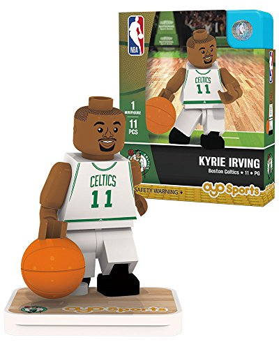 NBA Boston Celtics Kyrie Irving Association Home Uniform Minifigure, Small, No color