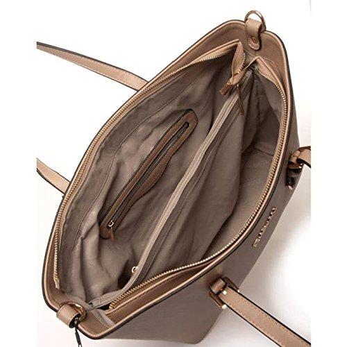 1ecdbbd822a04 Sac à main cabas femme porté épaule main grand format - Flora and Co -  Taupe  Amazon.fr  Chaussures et Sacs
