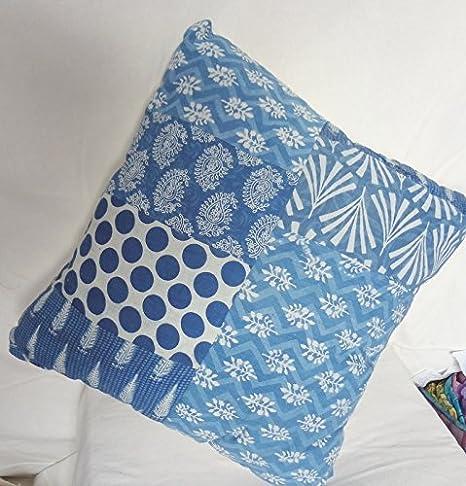 Tradicional Jaipur azul Funda de almohada 16 x 16, impresión ...