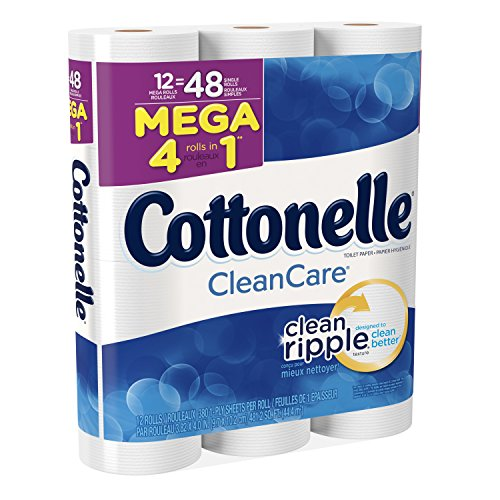 Cottonelle Clean Care Mega Roll Bath Tissue, 12 Count