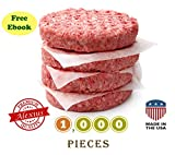 Patty Paper, Burger Wax Sheets: USA Made, FDA Approved: for Origami, Hamburger Press, Deli (5.5''x5.5'', 1000pcs)