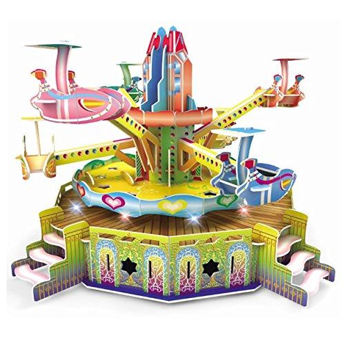 DIY 3D Swings Puzzle Amusement Park Model Rotates 360 (Hogwarts Castle Model compare prices)