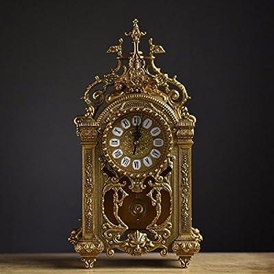 ZHGI Europische Leise Wohnzimmer Uhren Antike Metall Minimalistischen Uhr Tabelle Grsse Und Kreative Handwerk Klassische