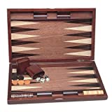 : 19 Inch Wood Pinwheel Backgammon Set by Wood Expressions