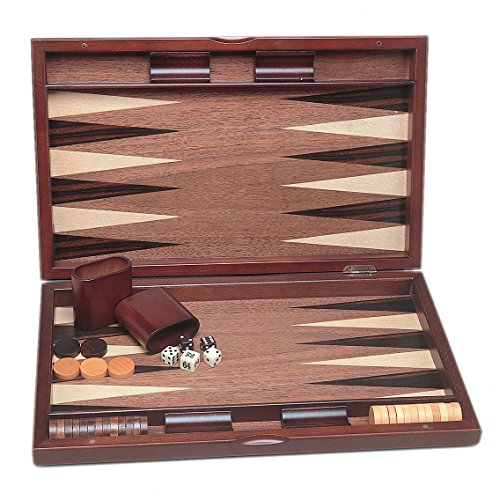 WE Games 19 Inch Wood Pinwheel Backgammon Set by Wood Expressions
