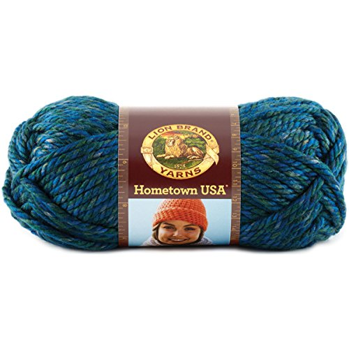 Price comparison product image Lion Brand Yarn 135-212 Hometown USA Yarn, Lake Tahoe Blue