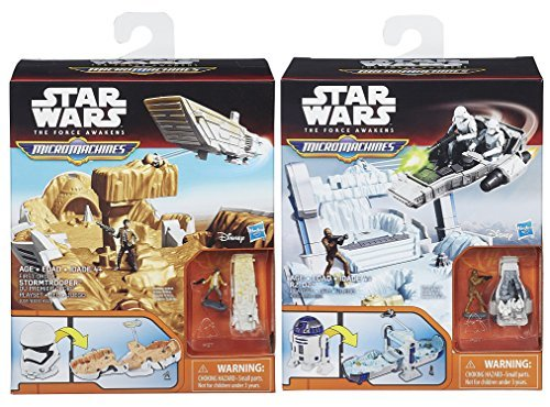 (Star Wars The Force Awakens Micro Machines R2-D2 Episode VII Playset & Storm Trooper Battle 2 Pack)