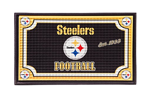 Team Sports America 41EM3824 Embossed Door Mat, Pittsburgh Steelers from Team Sports America