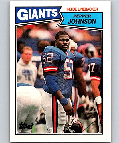 1987 Topps #28 Pepper Johnson NY Giants NFL Football Card (RC - Rookie Card) ()