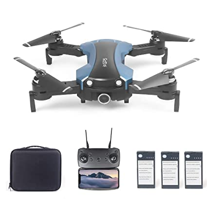 Goolsky 65G GPS RC Selfie Drone con Cámara 2K 5G WiFi FPV Plegable ...