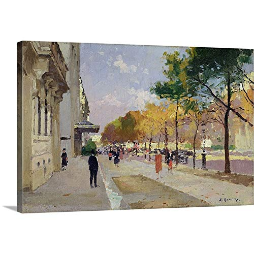 GREATBIGCANVAS Gallery-Wrapped Canvas Entitled Avenue Montaigne, Paris by Jules (1863-1932) Renoux 18